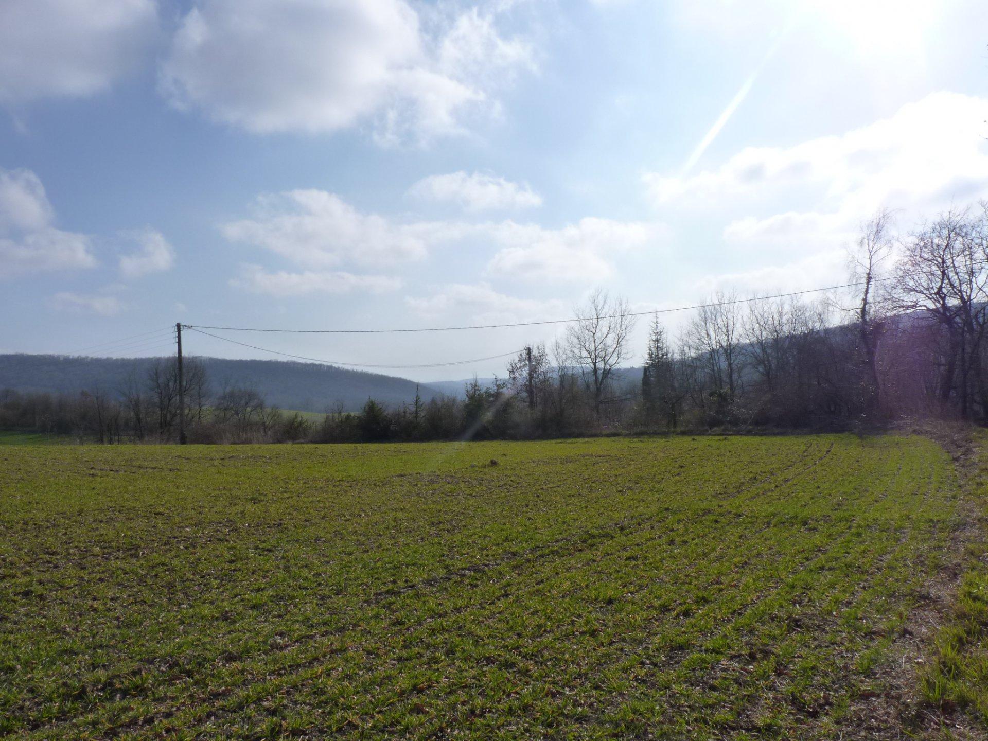 Secteur Le FRECHET, terrain constructible de 7480 m² vue Pyrénées