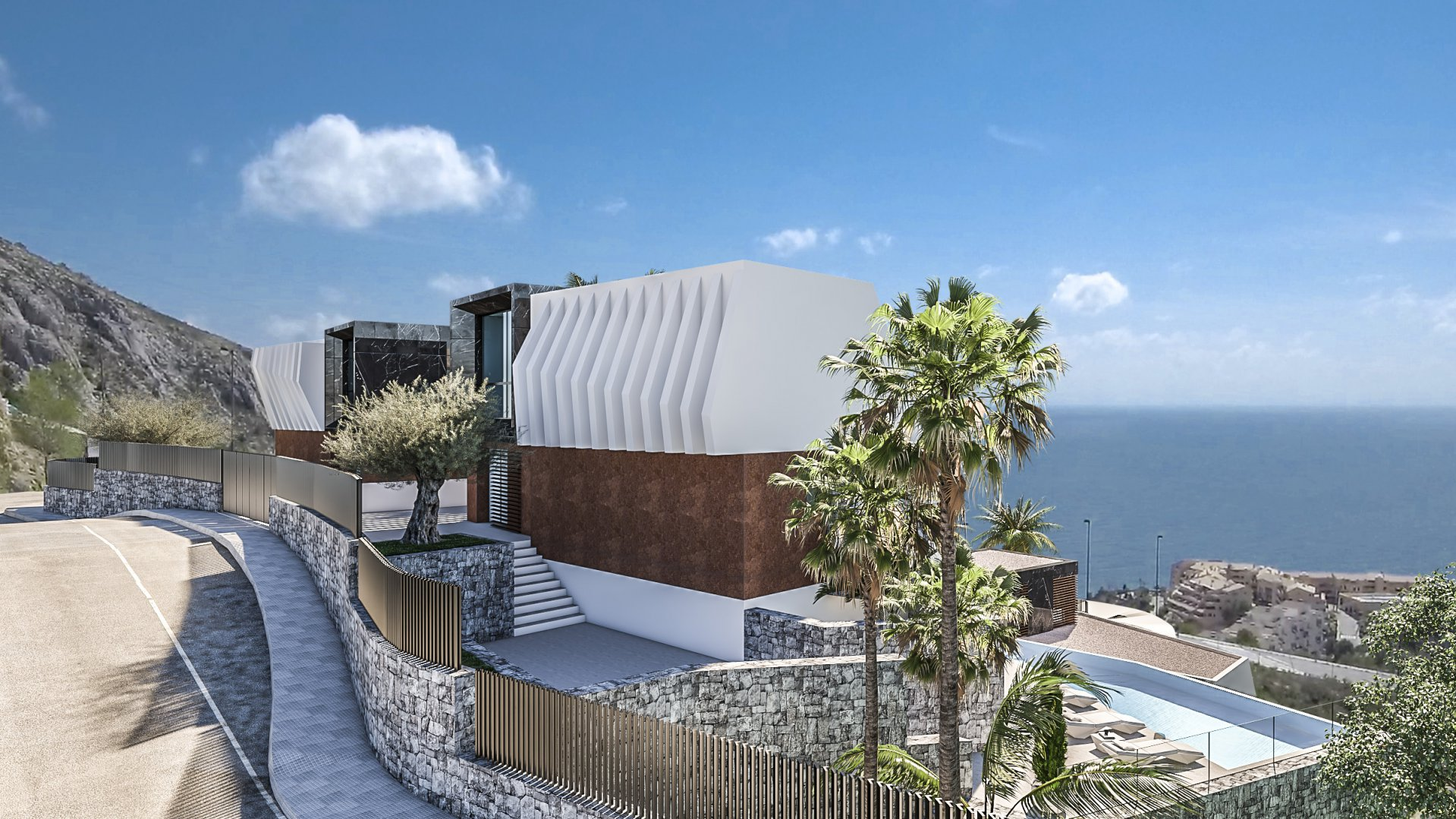 Newly built villa in Mascarat with panoramic sea view