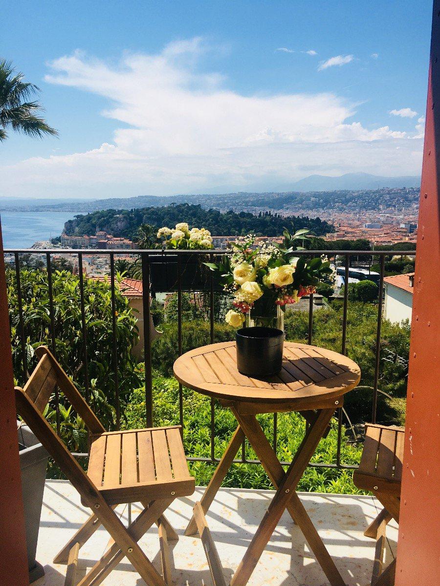 Nice Mont-Boron spacieux 3 pièces avec vue panoramique mer
