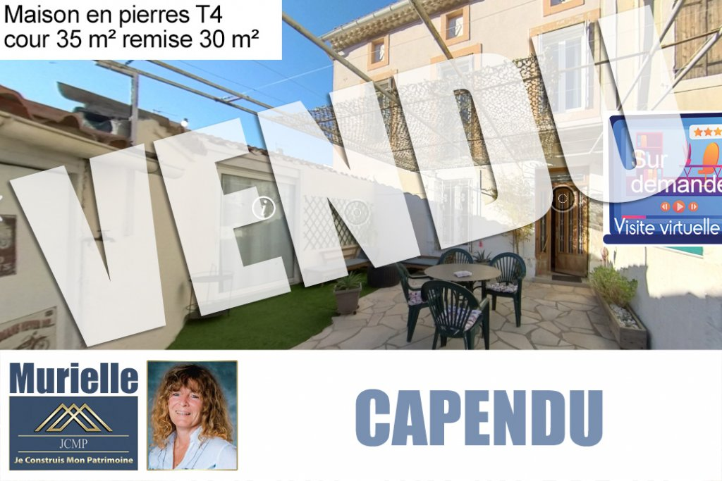 Maison de village 3 faces 130 m² + cour et garage