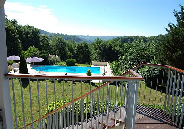 DORDOGNE - nice house with studio, pool and panoramic view