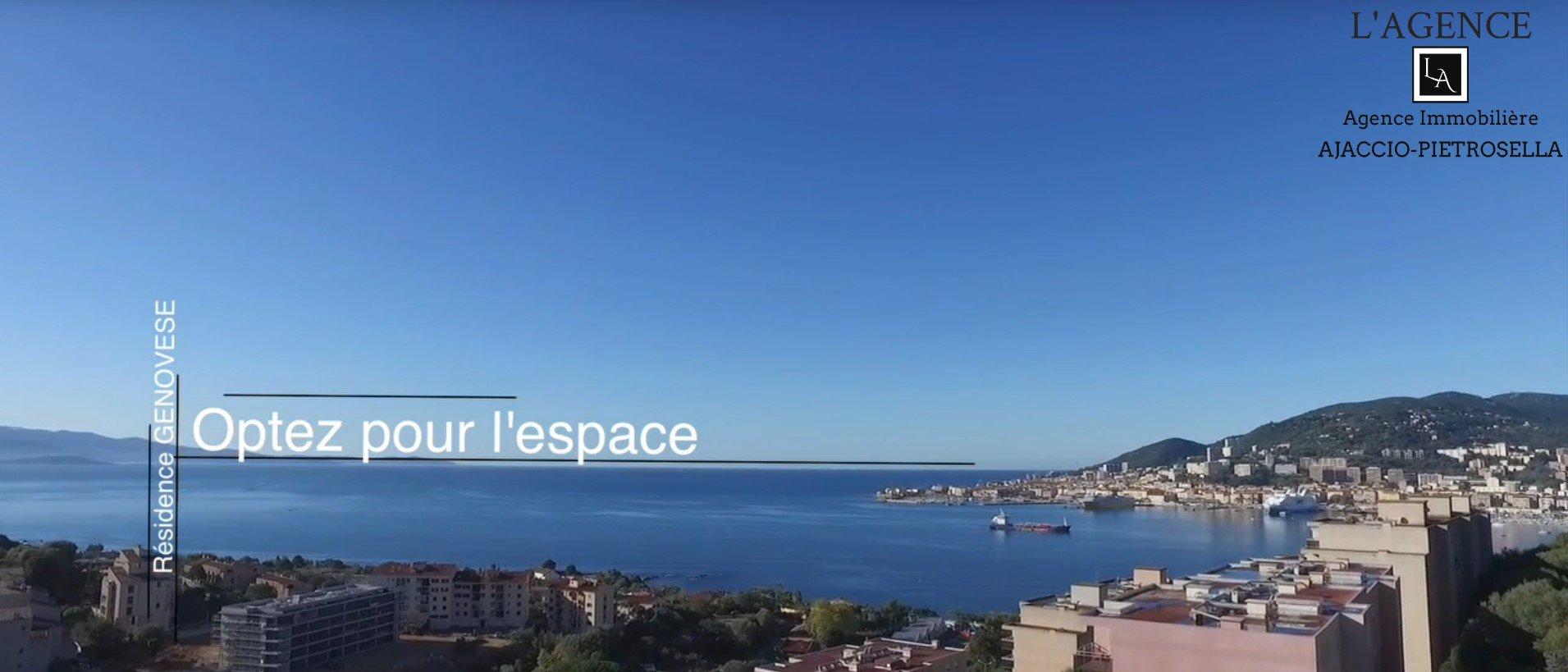 T4 Neufs-vue mer-Entrée d'Ajaccio St Joseph-Résidence Genovèse