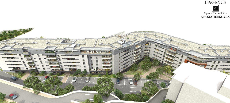 T3 Neuf de 57.80 m² Entrée d'Ajaccio Résidence Genovese