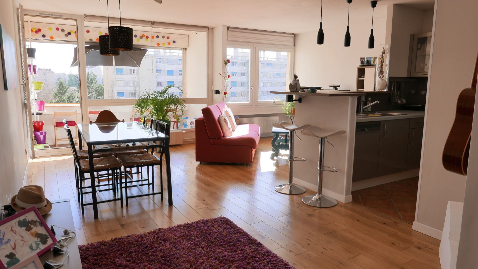 Achat Appartement Surface de 73 m²/ Total carrez : 68 m², 3 pièces, Villeurbanne (69100)