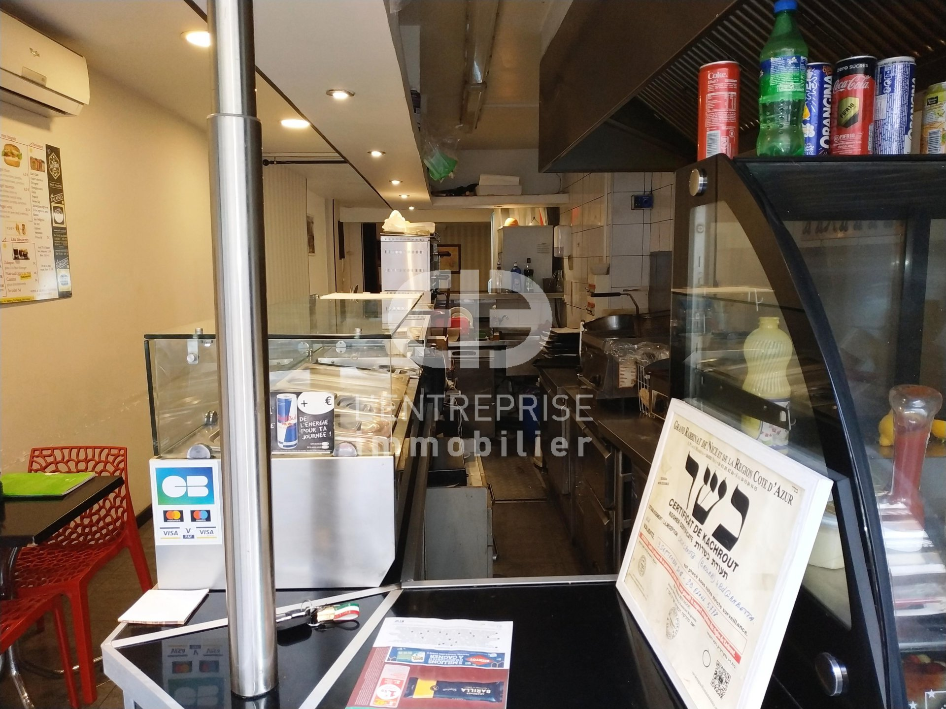 A VENDRE FONDS DE COMMERCE RESTAURATION 65 M² NICE CENTRE