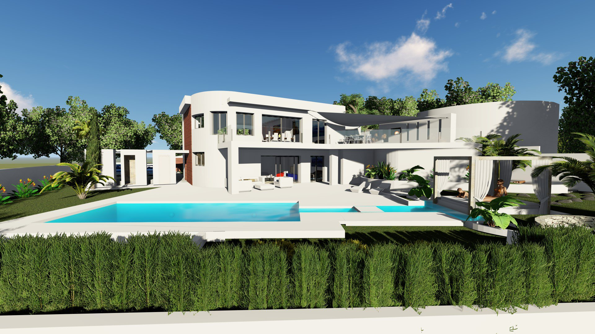 Villa for sale in Moraira with 4 bedrooms and sea views