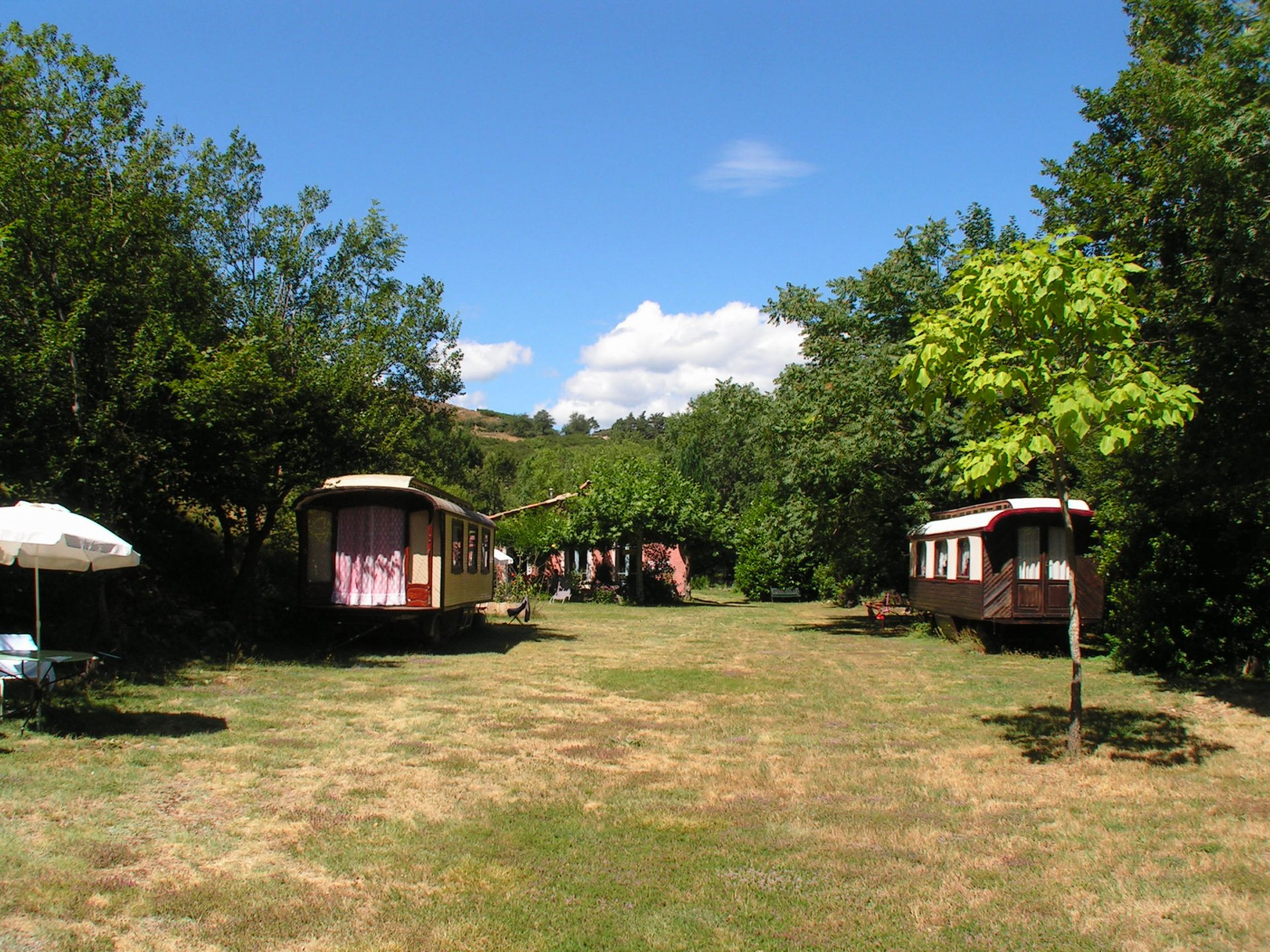 Camping of paardendomein in Ajoux - Ardèche