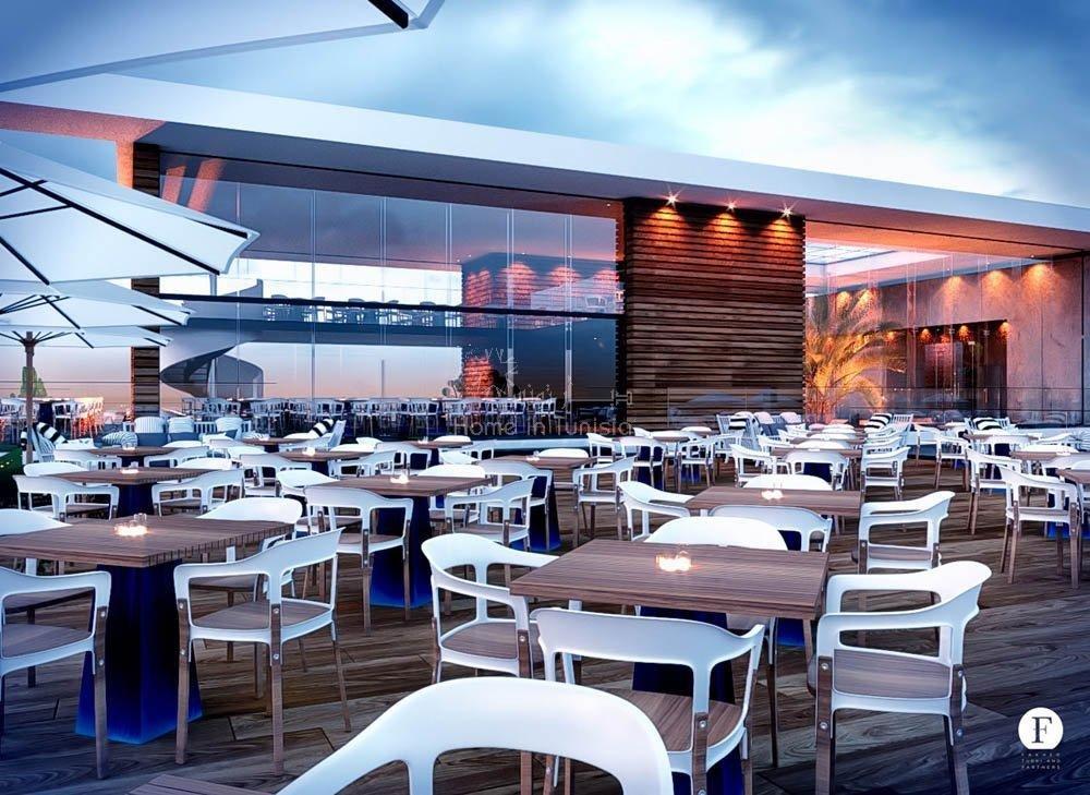 complesso turistico, ristorante, bar, gelaterie, gastronomia