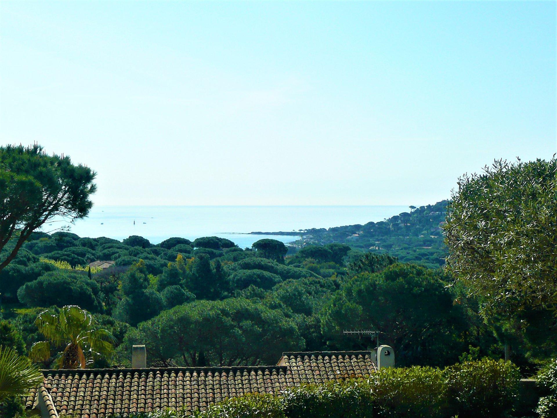 Aangenaam zeezicht voor deze Provençaalse villa met zwembad