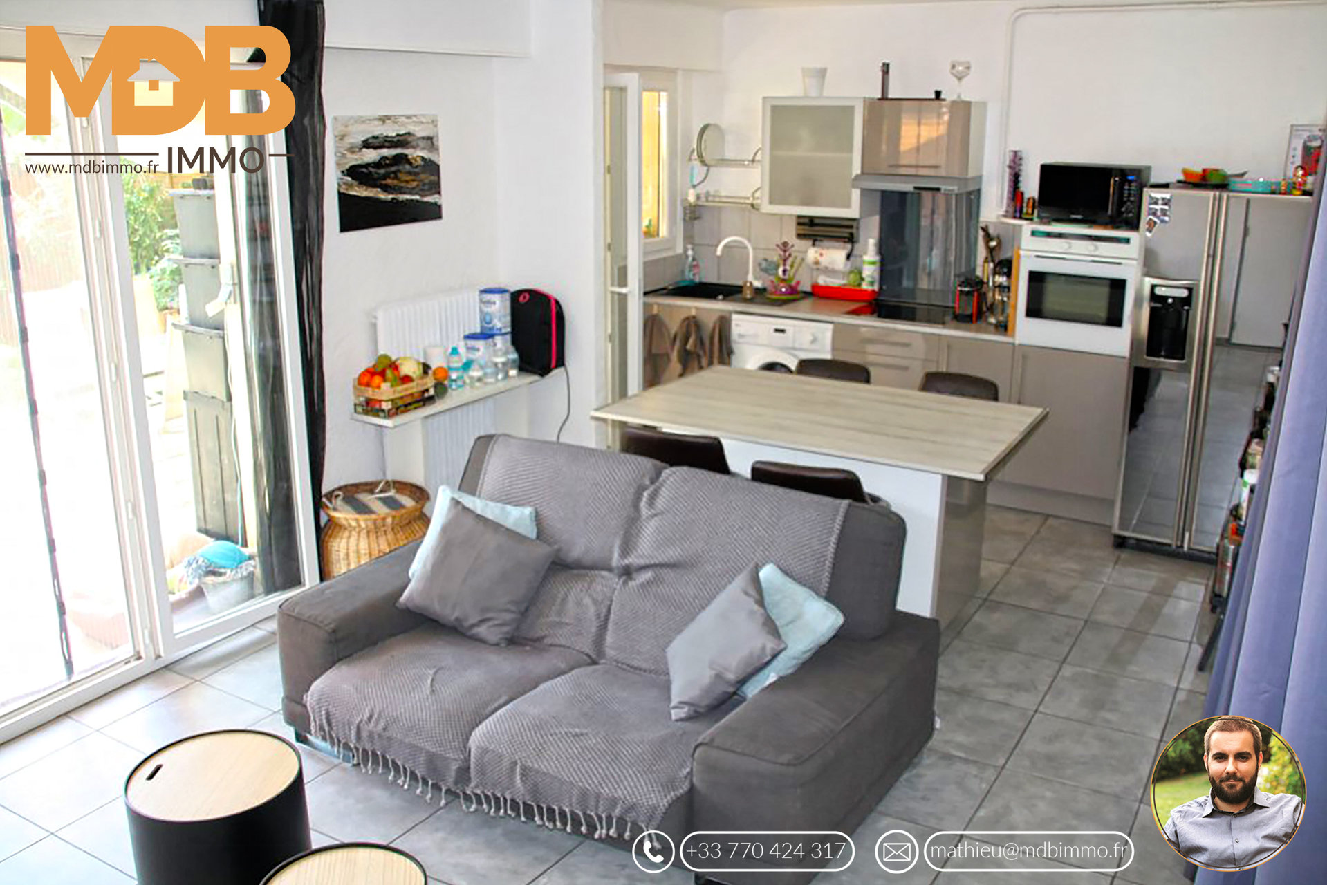 St Laurent du Var 44m2 2pc Apartment & Jardin 40m2