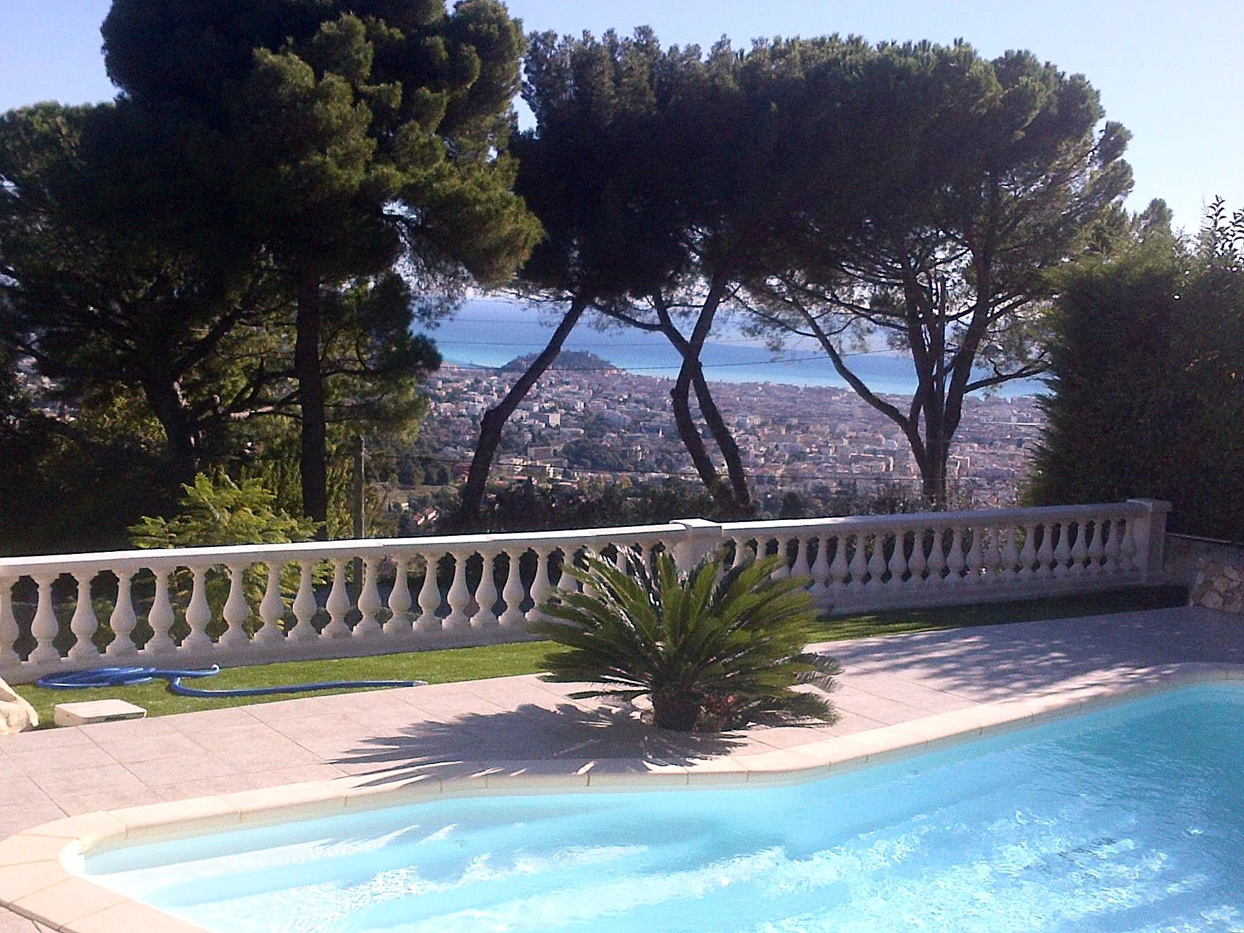 Villa Sea view with swimming pool in Nice Gairaut