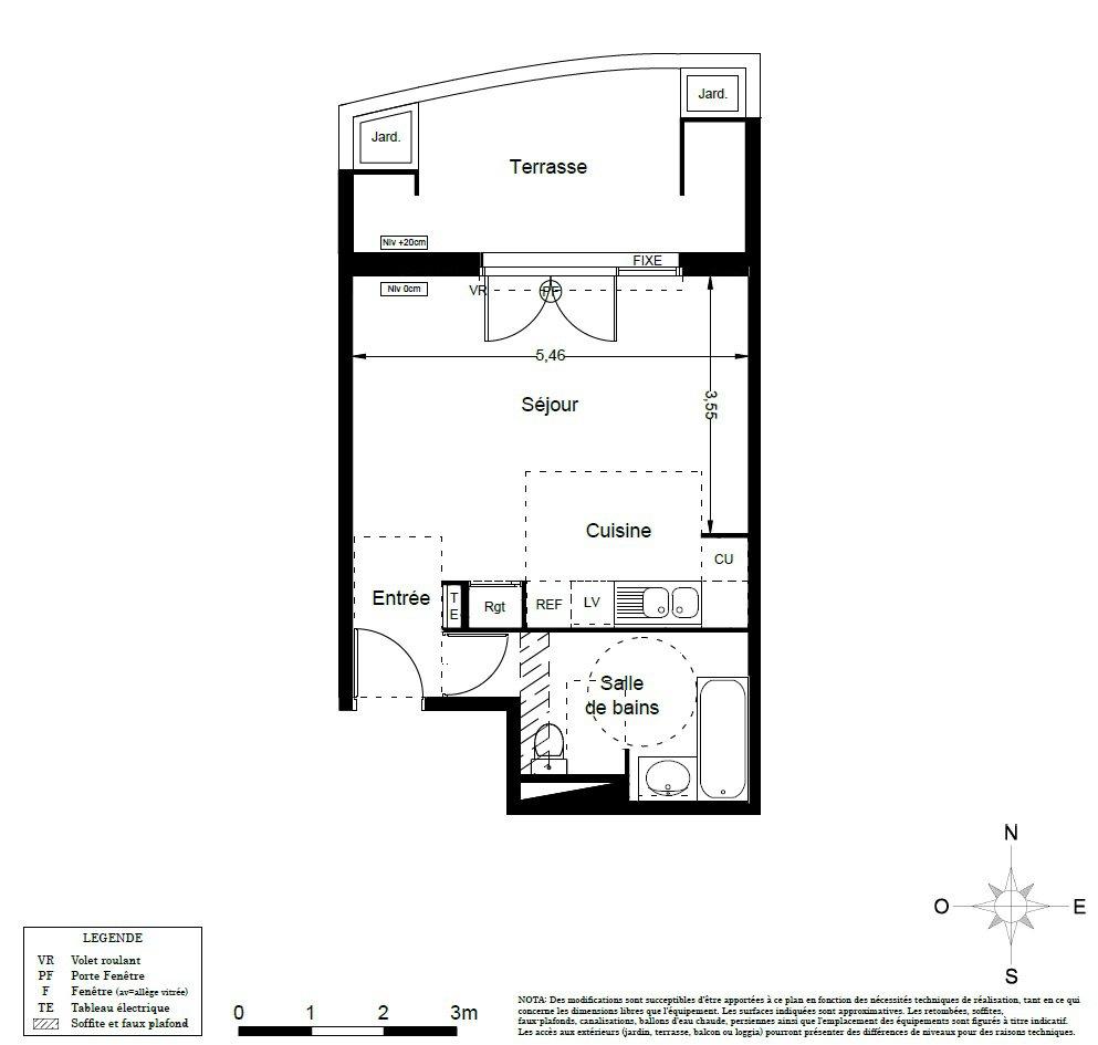 Appartement en rez de jardin à LATTES