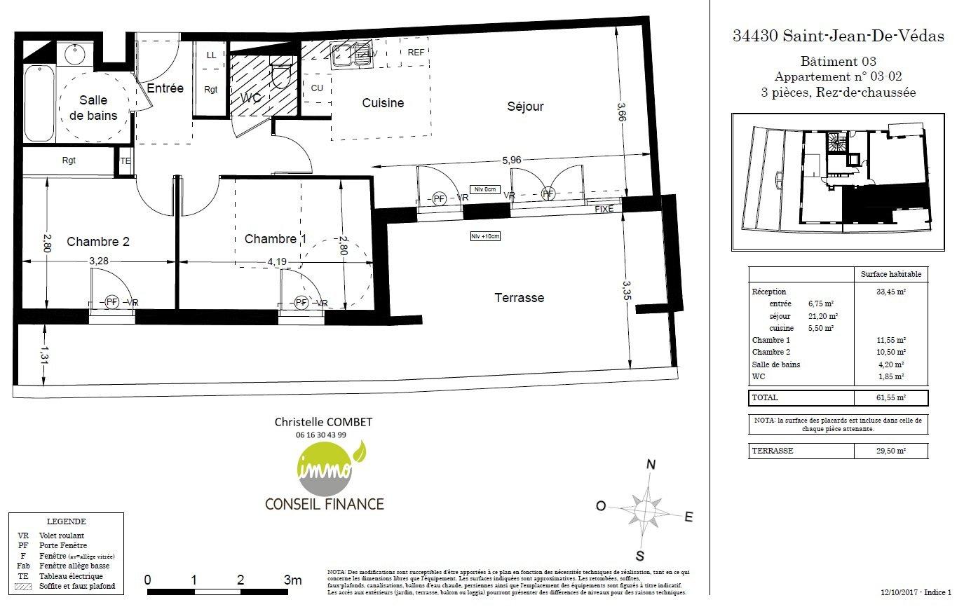 Appartement à Saint JEAN DE VEDAS