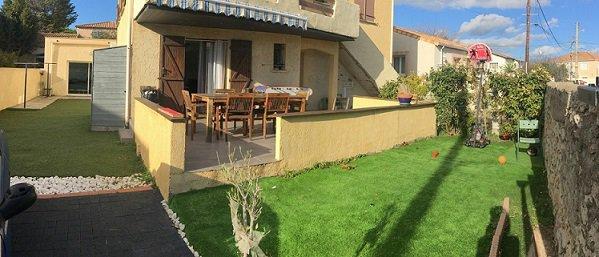 A FRONTIGNAN, appartement de 101 m2 en rdc de maison avec terrasse et jardin privatif