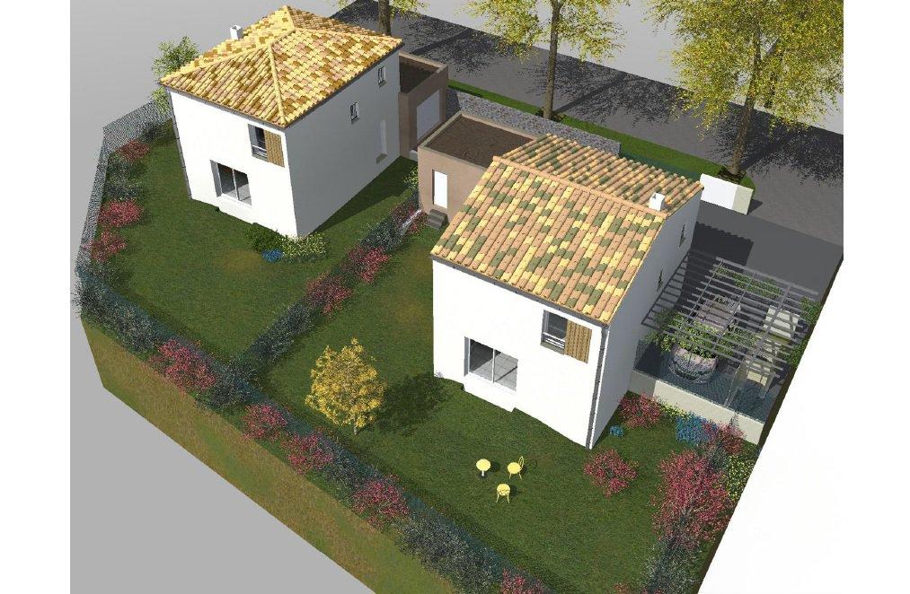 Villa T4 contemporaine de 86 m2 avec garage sur un terrain clos de 340 m2