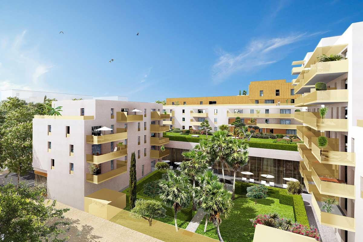 Appartement neuf de 38 m2 avec terrasse de 28 m 2 à MONTPELLIER