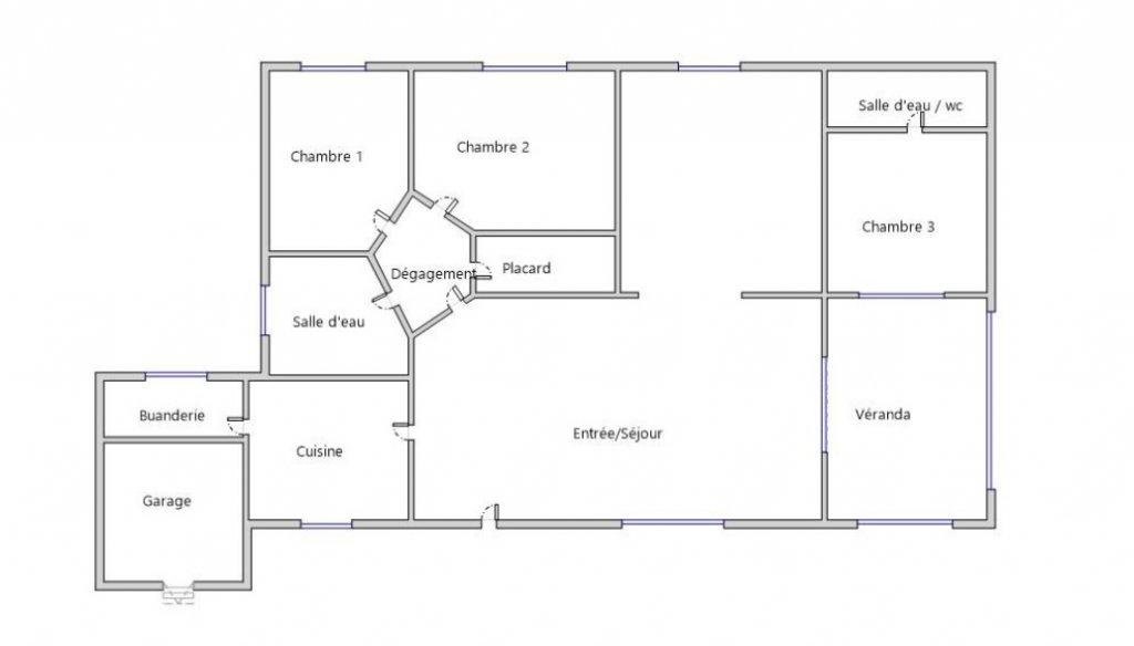 Villa individuelle T4/T5 de plain-pied avec garage