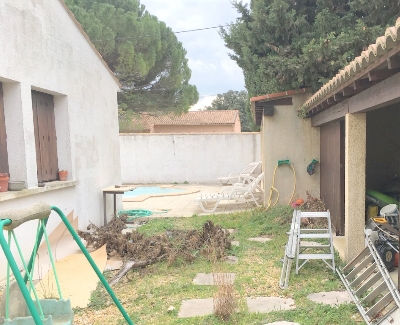 Terrain divisible avec villa