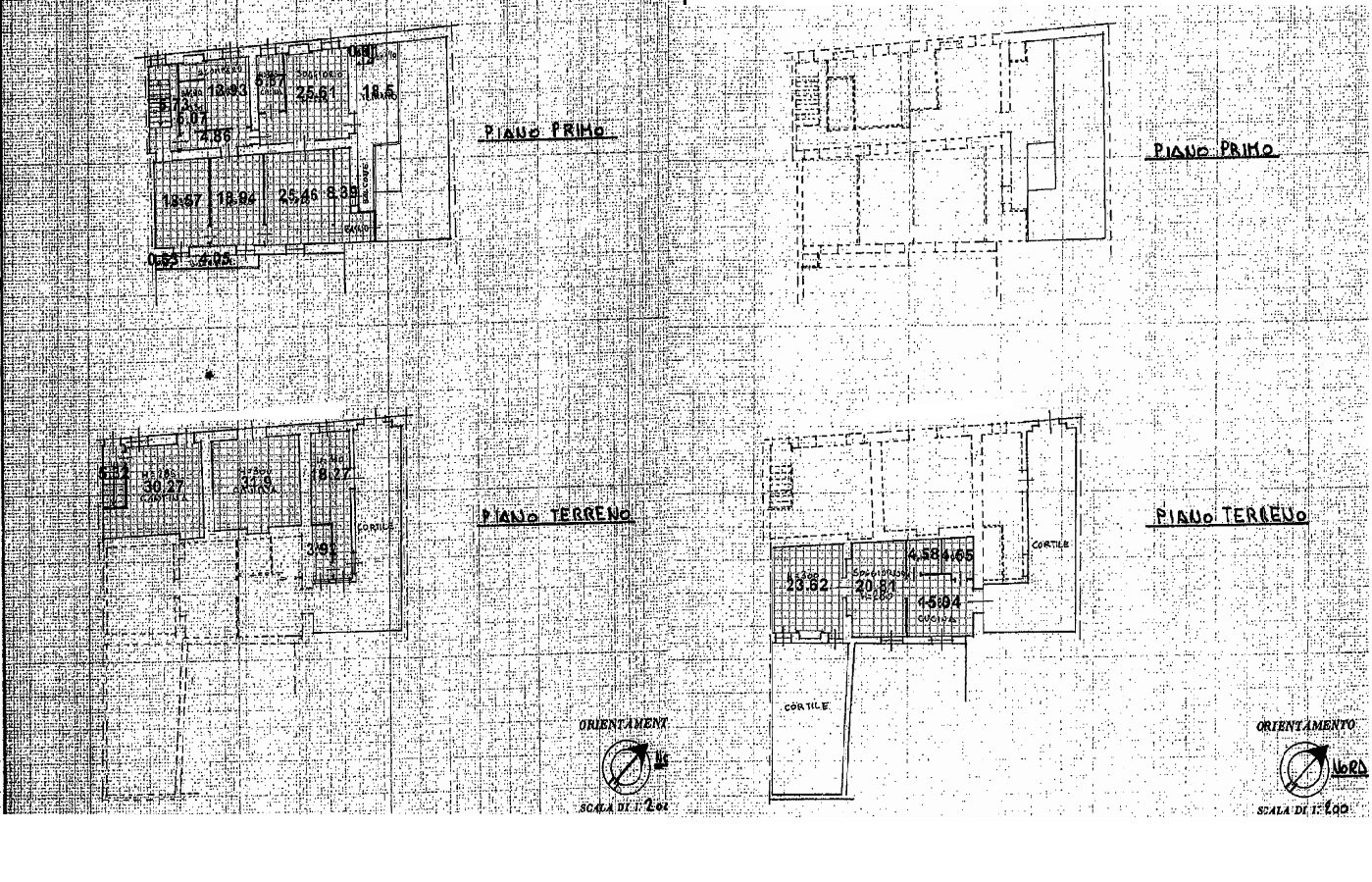 Floorplan of the house and courtyard