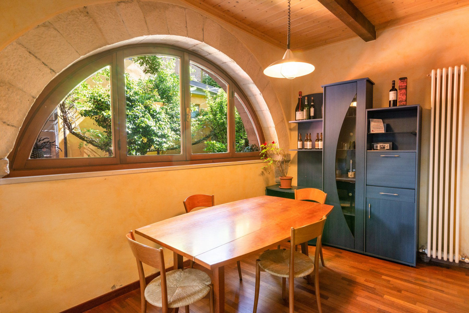 Historic house for sale in lesa- dining room