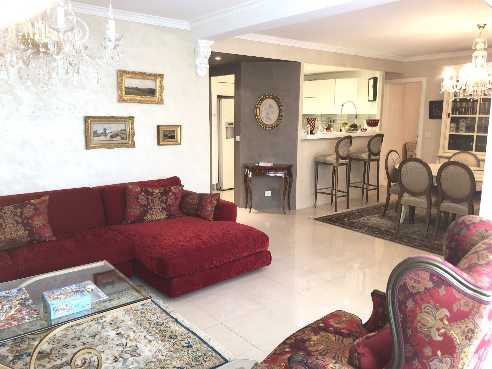 Cannes Montfleury, Superb 3 bedrooms apartment 140 sqm on groundfloor, with garage near Croisette