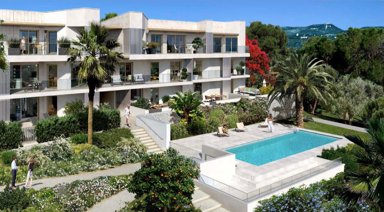 NICE - French Riviera - 2 bed Apartment - sea view - swimming pool
