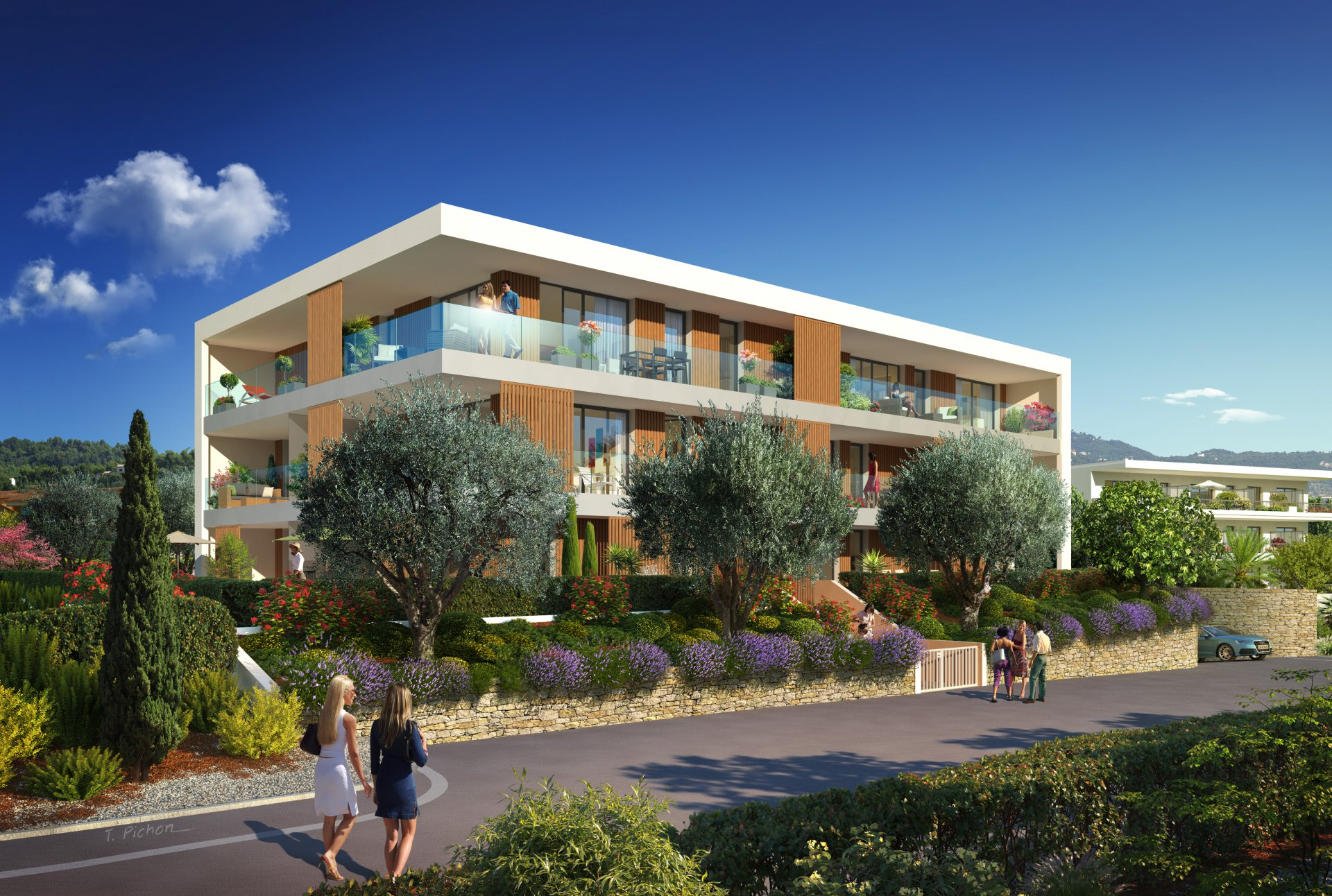Brand new property development near the beach, shops & restaurants.