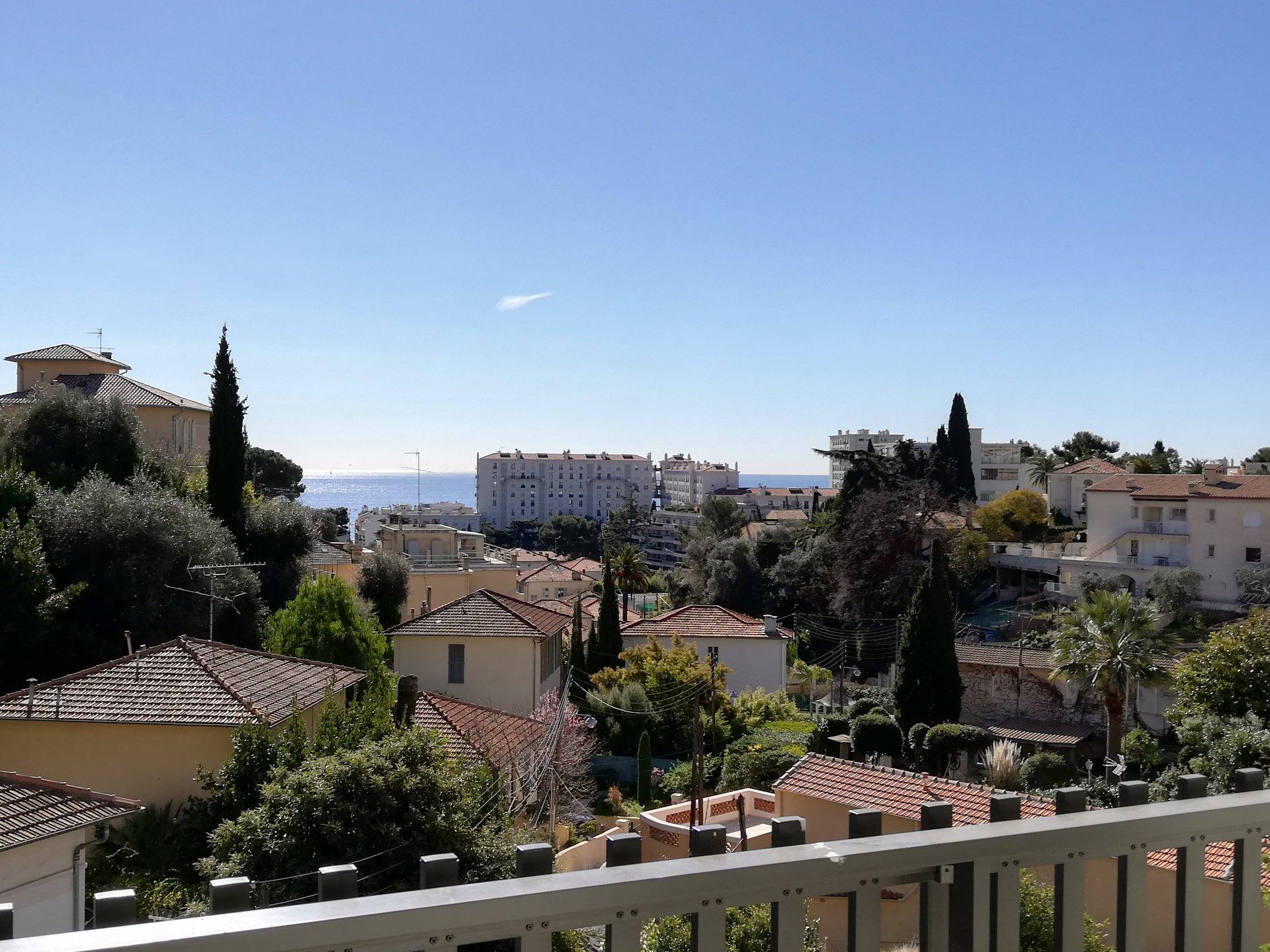 Appart 3 pièces R.d.jardin vue mer + Parking ssol