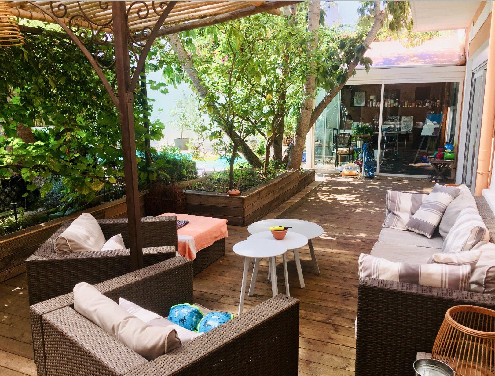Cannes Palm Beach villa 5P pool/closed to beach