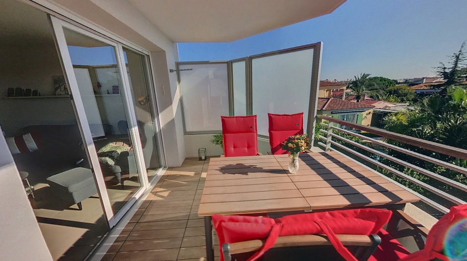 SALE Apartment 2 Rooms Juan-Les-Pins Bijou Terrace View Garage