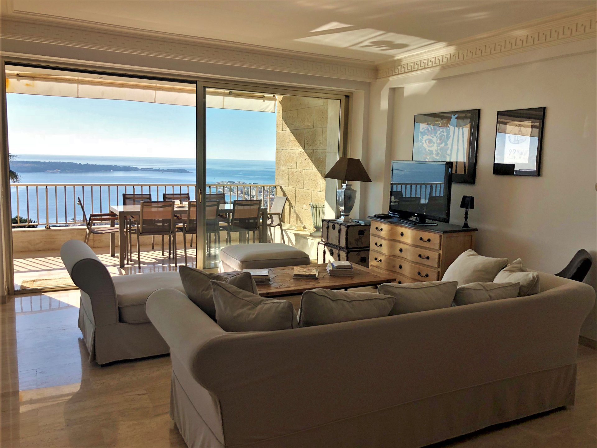 VENTE CANNES CALIFORNIE - APPARTEMENT 3P 118M² + 22M² TERRASSE VUE MER PANORAMIQUE