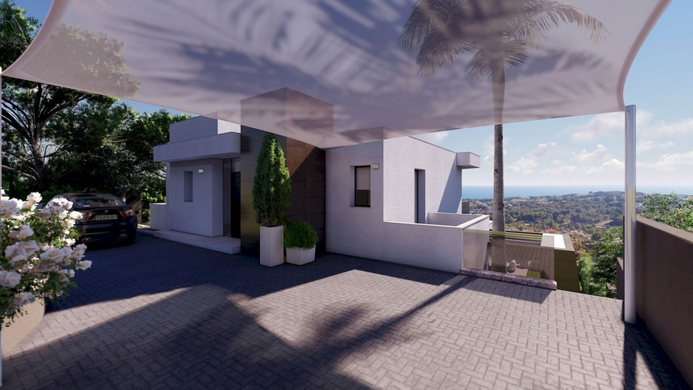 New luxury villa in Moraira with panoramic sea views