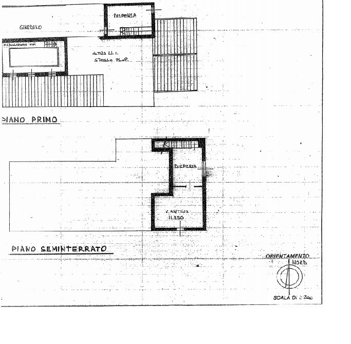 Rustic house to be restored in Stresa - floor plan A