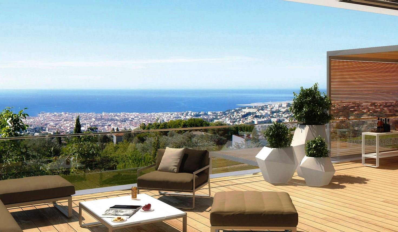 Nice Gairaut 4p neuf luxe terrasse