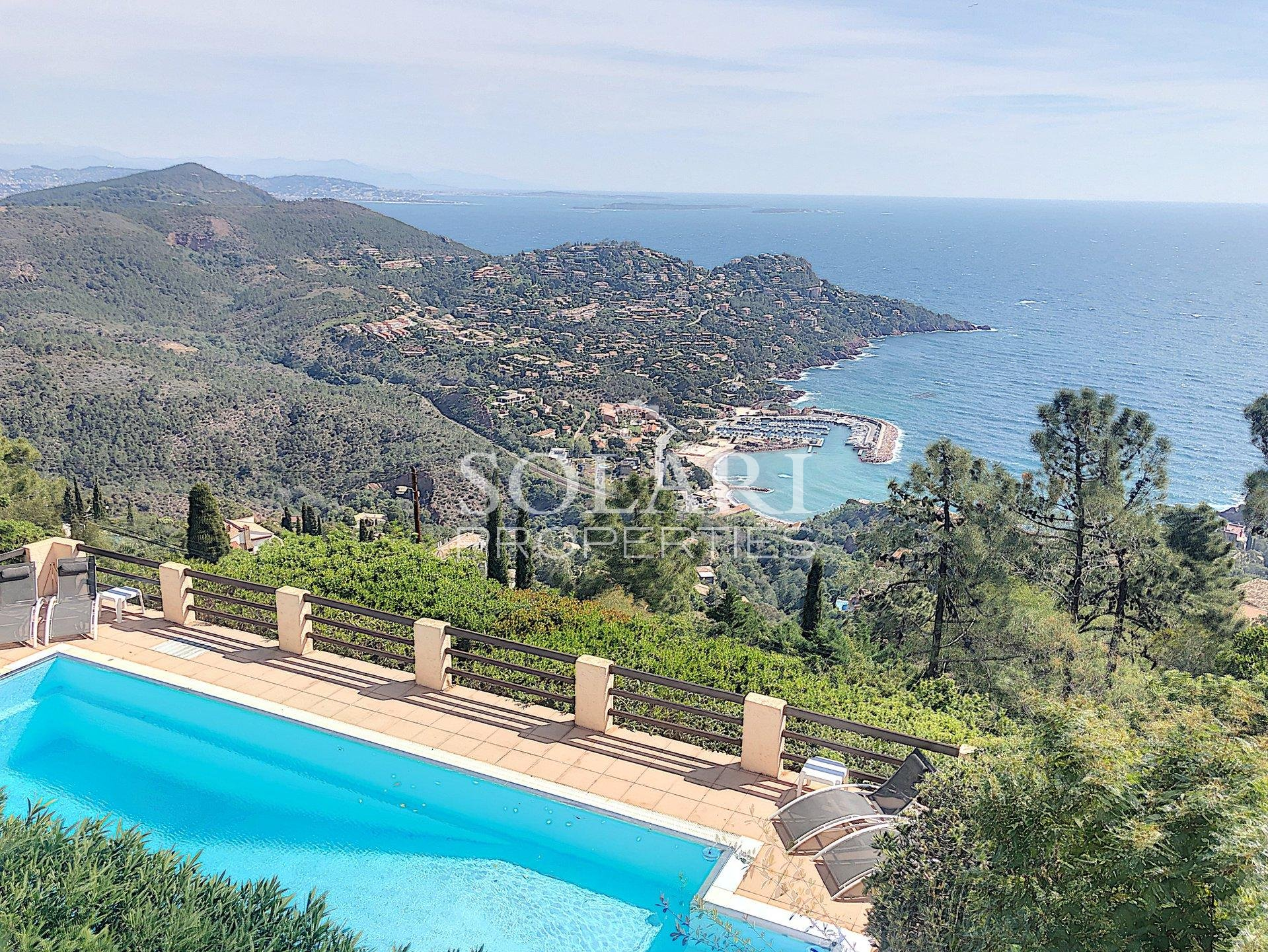 Villa with pool panoramic sea view Théoule Le Trayas