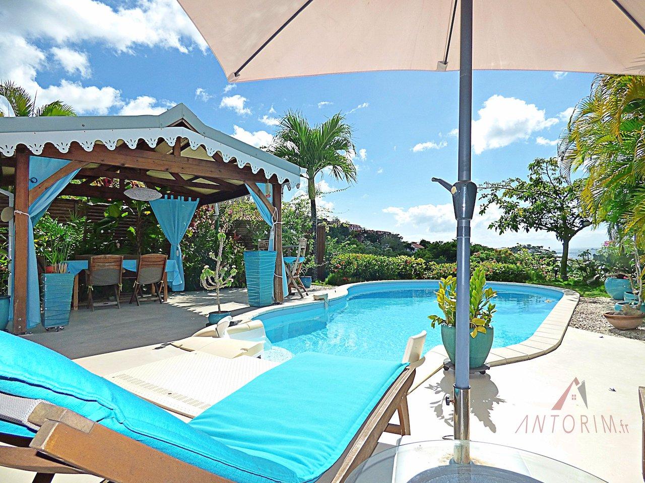 LES TROIS-ILETS - Superbe Villa T5 de Standing dans Résidence Sécurisée - Vue Mer