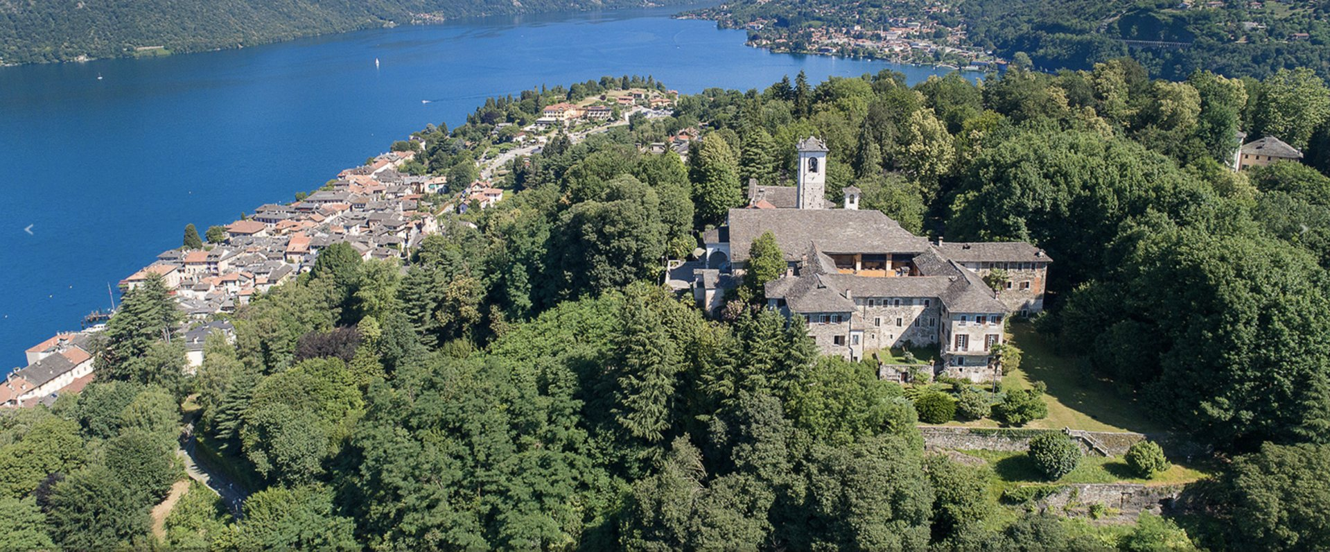 Historic property former convent for sale in Orta - top view