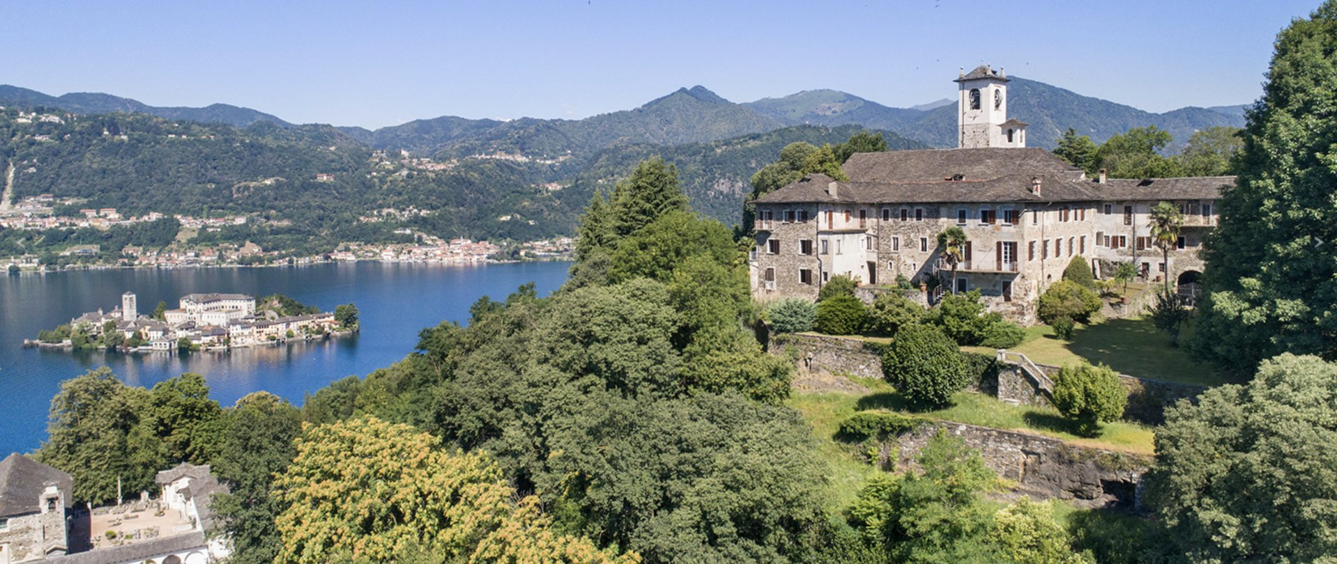 Historic property former convent for sale in Orta - panoramic view