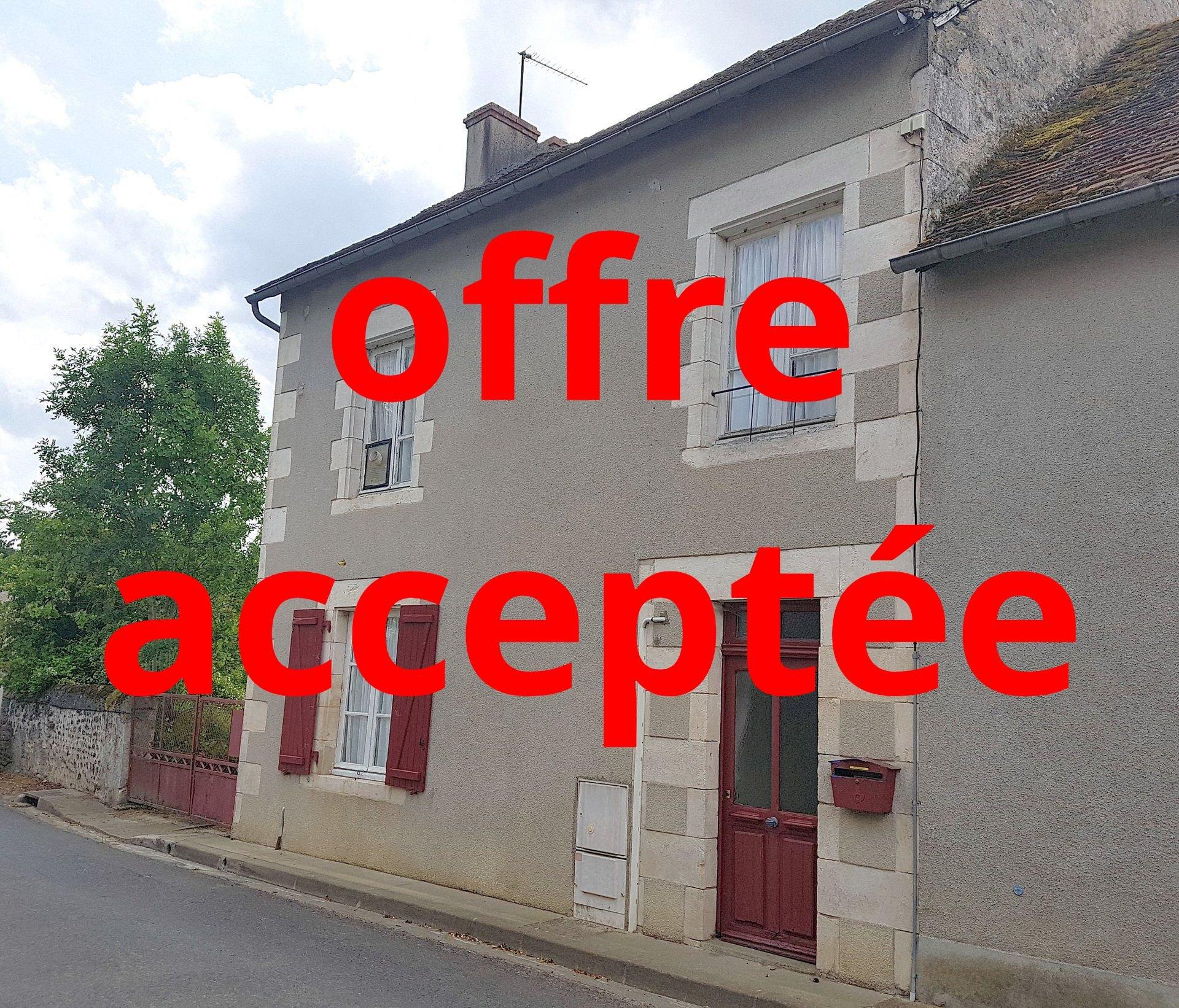 Bei Montmorillon, Vienne 86: Dorfhaus mit Garten