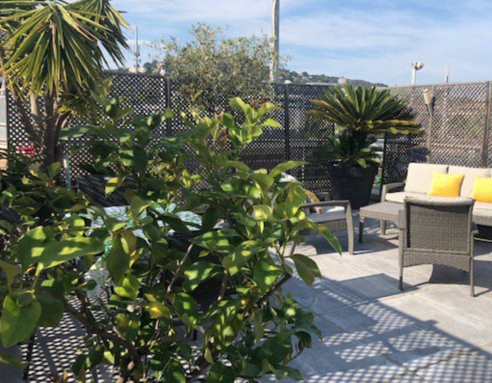 Cannes Palm Beach/Croisette top floor 2P terrace 40 m2