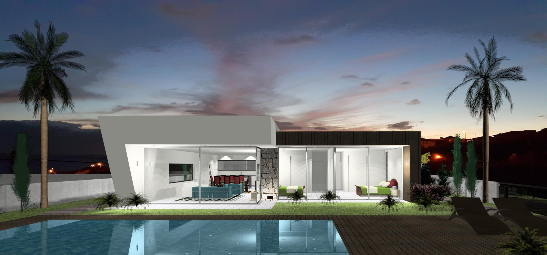 Minimalist House with Pool and Panoramic Ocean View
