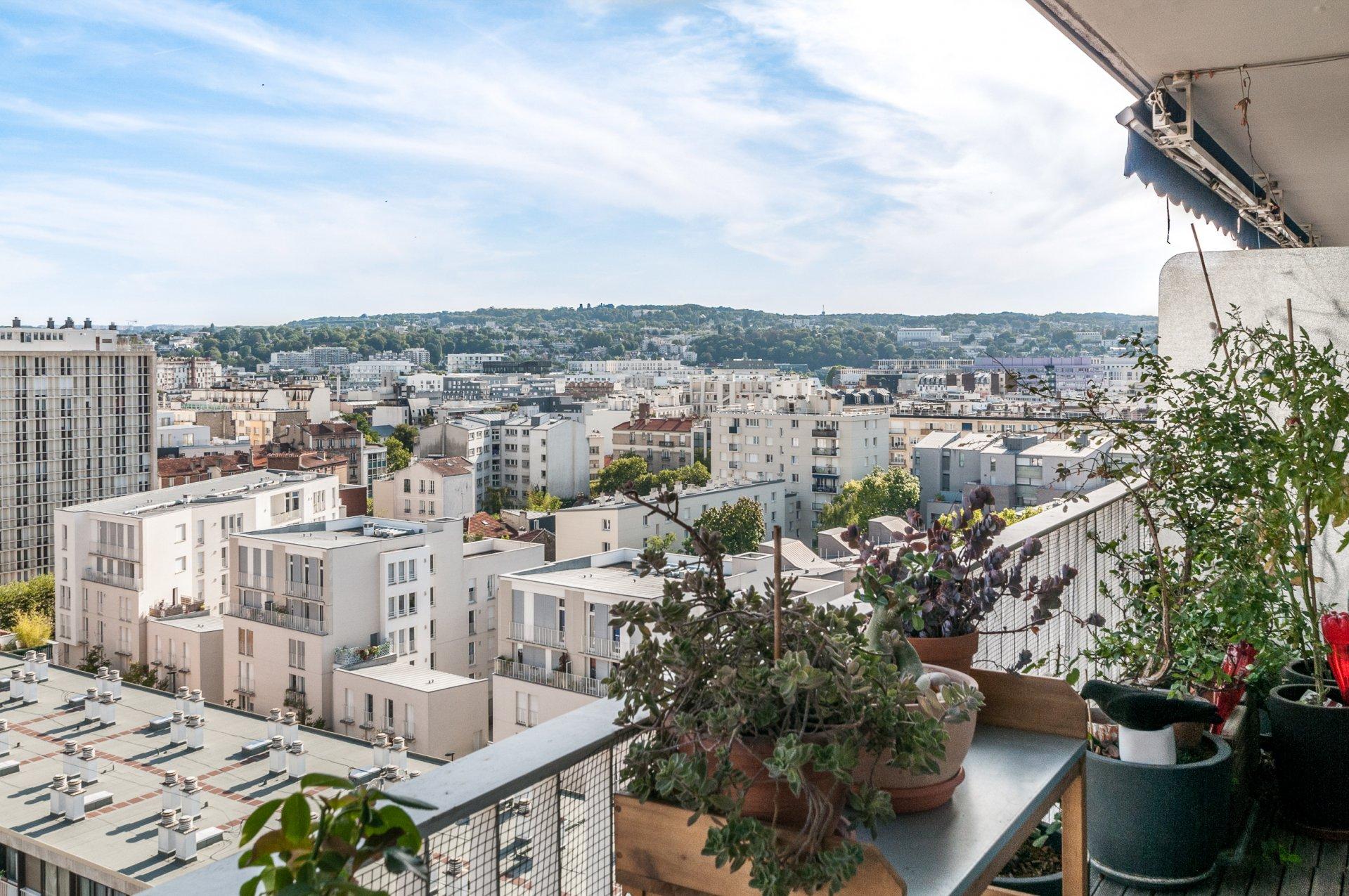 Beau 3 p vue panoramique, balcon, véranda