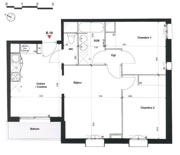 Appartement T3 - NEUF - 31140 FONBEAUZARD