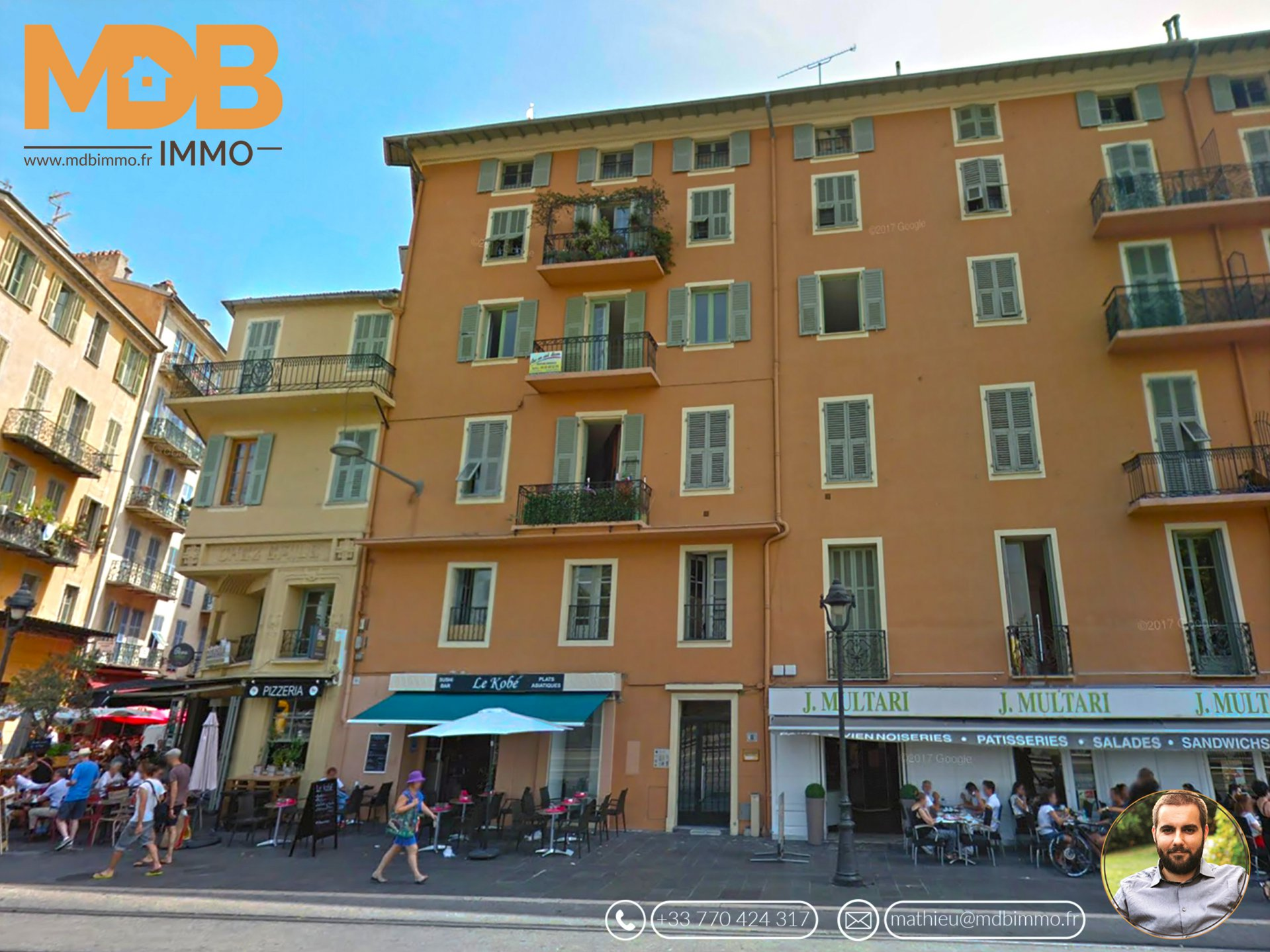 Nice Garibaldi - Studio of 24m ² entirely to renovate! SUPER BUSINESS!