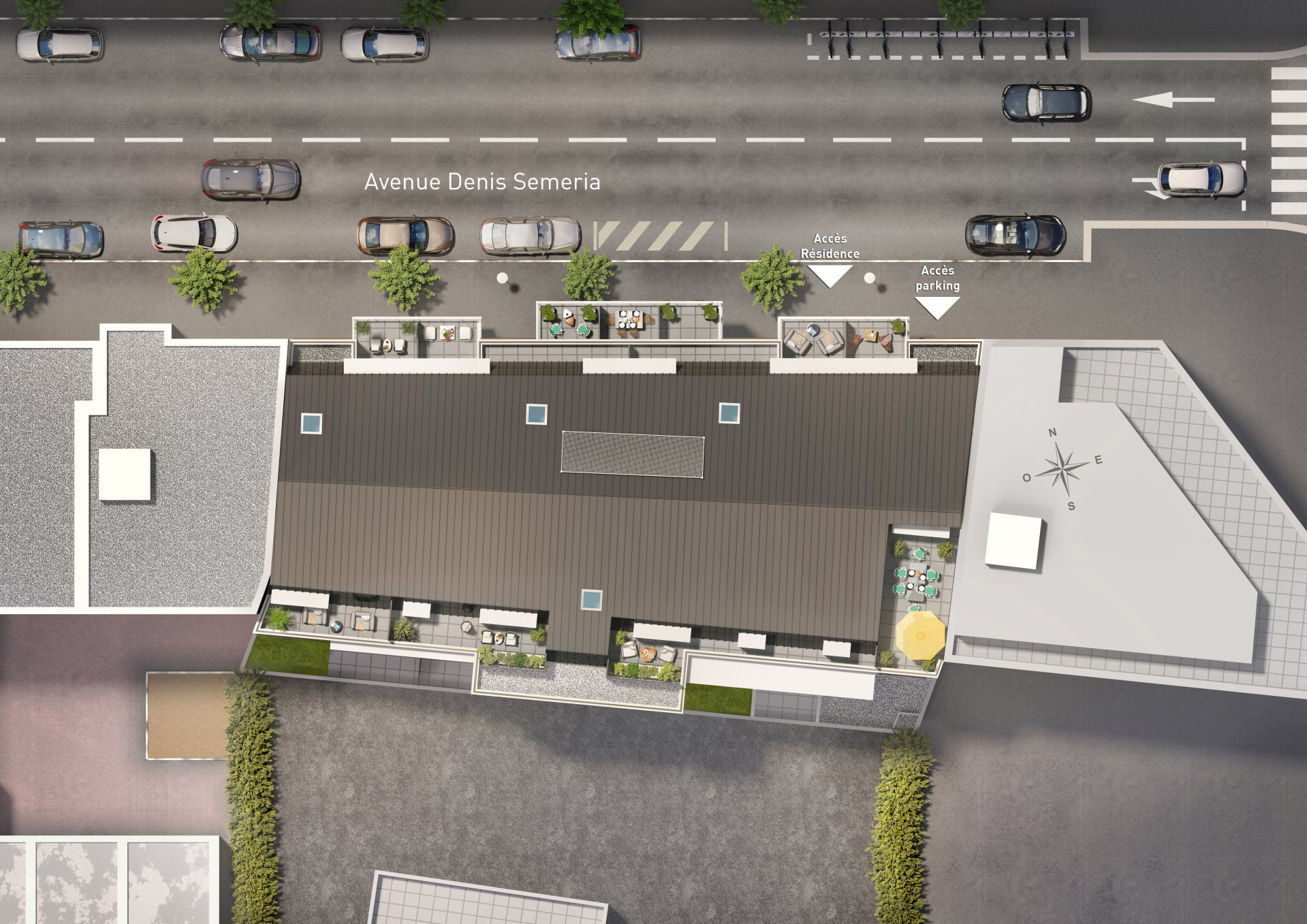 Centre Nice 2  Pièces Sud avec Terrasse Ptz et Pinel Possible