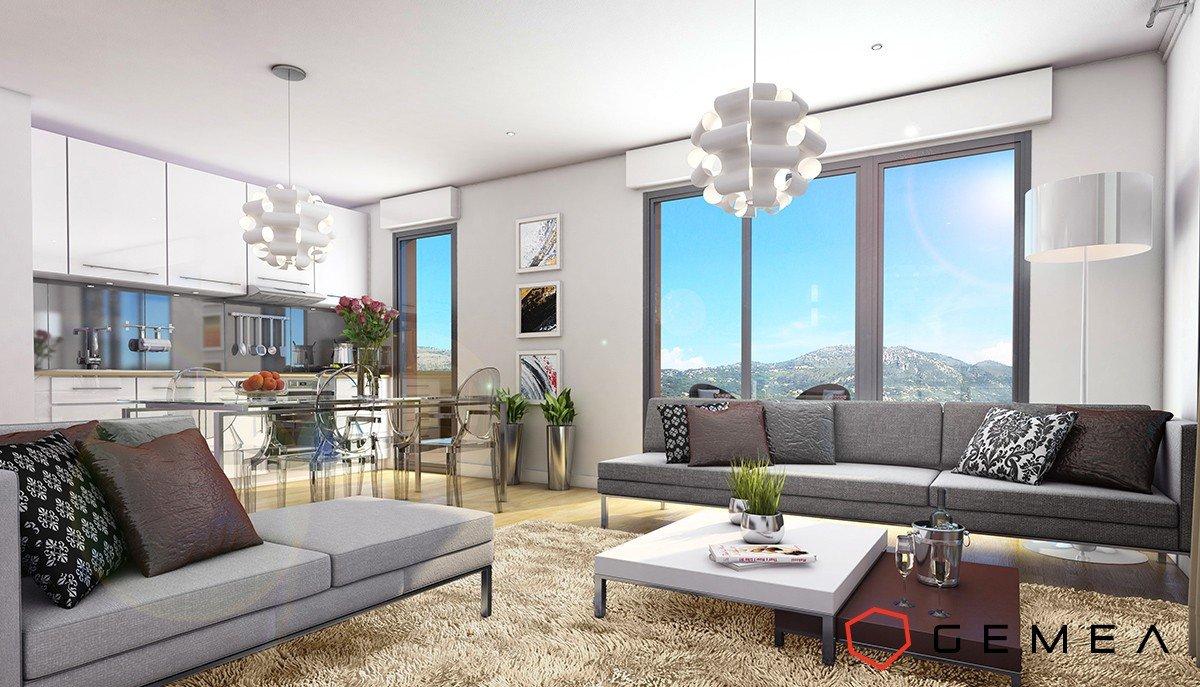 Plans de Carros  (06510) - appartement 4 pièces - dernier étage