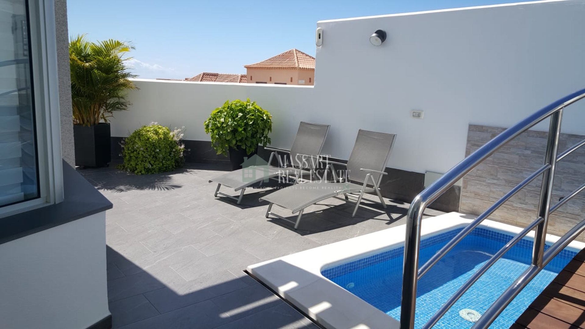 For sale in the central municipality of Adeje, modern luxury villa.