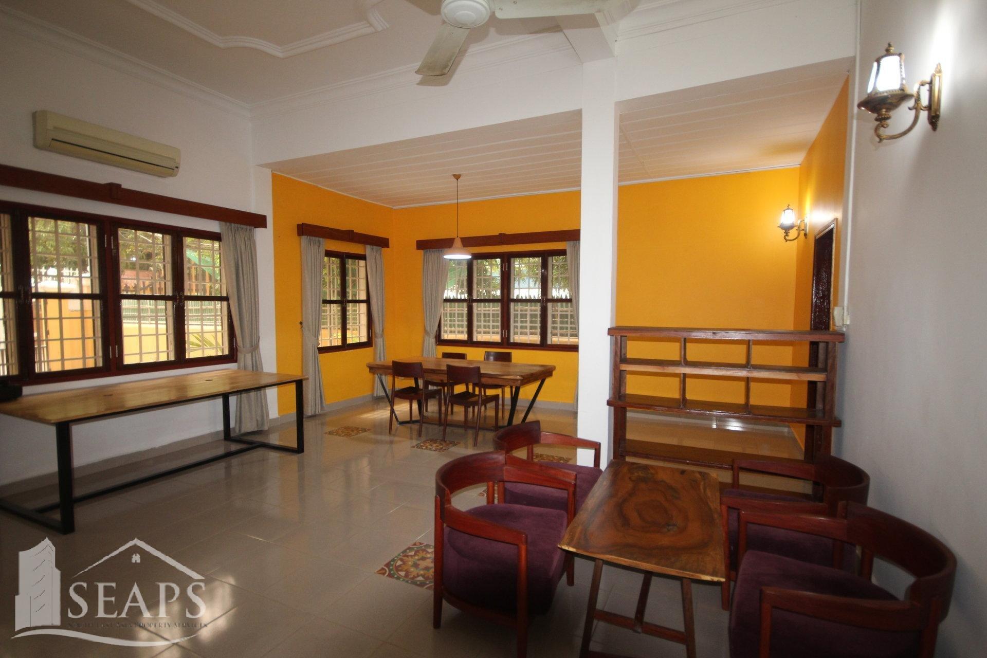 4 BEDROOMS VILLA FOR RENT  IN TONLE BASSAC AREA