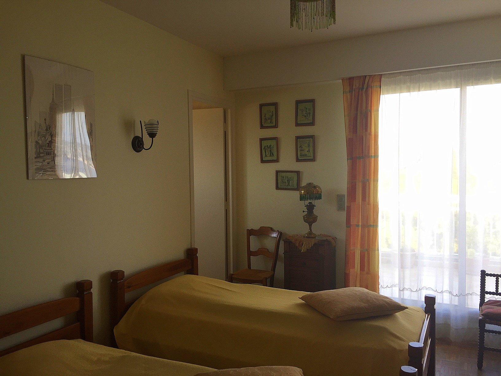 Nice Bas Fabron Toit terrasse 4p terrasse chambre 1
