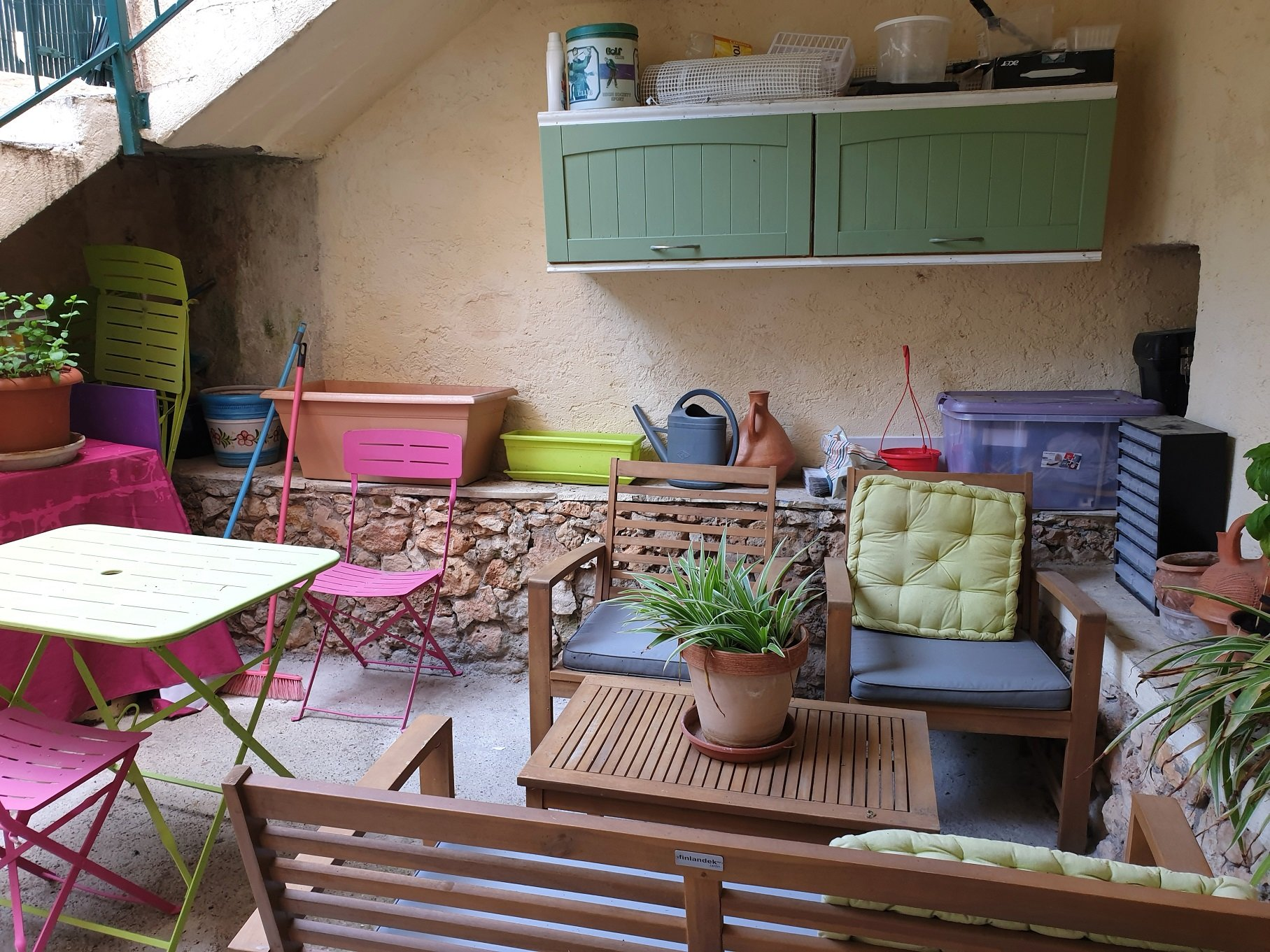 Tow house in Aups courtyard 19m² balcony 9m²